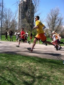 Dylan's age group 1 miler after his 5k